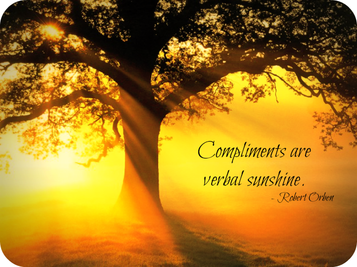 compliments verbal sunshine